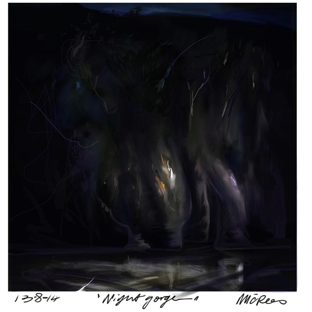 Night Gorge - Mic Rees Cataract Goge Tasmania